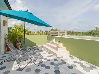 Romantic Casa Selva | 1BR Jungle Rooftop Oasis with amazing views at Aldea Zama