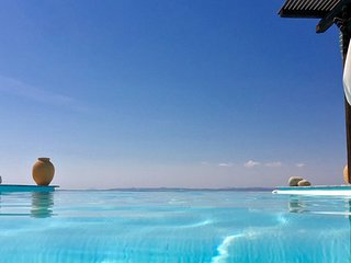 Spacious villa with a swimming pool & amazing sea view in the area of Melissaki