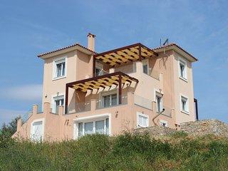 """Νewly built """"Melilofos Panorama"""" is at  the top of a hill on a family farm."""