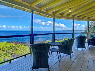 Kahikole - Oceanfront, private two-story home with AMAZING views and privacy!