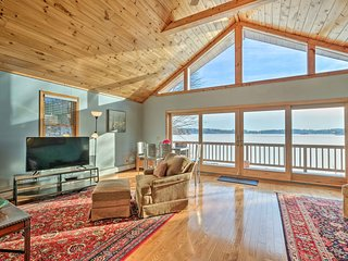Lake House w/ Deck & Views, Mins to Jiminy Peak!