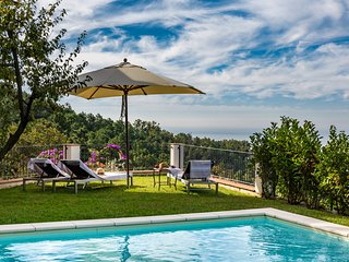 Lovingly restored Tuscan Villa Bernardi e Giorgi in the hills above Pietrasanta