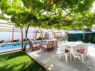 jardín de la piscina, un auténtico edén