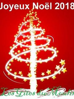 Le ferme de Méraville (gîte du Moulin) vous souhaite un joyeux Noël 2018!