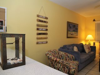 Sunrise Village 212 ~ Renovated, Bright Colors, Steps to the beach! FREE Wifi by