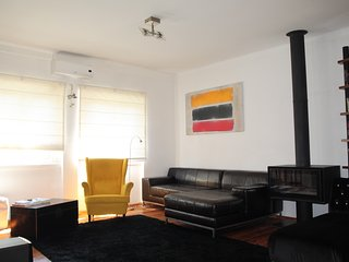 Double Floor Penthouse-Stylish !AC+Fireplace!Great family&friends getaway!Metro!