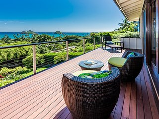 Ocean view, Villa, Mokulua Island view, Pool, Luxury, Lanikai Ocean View Villa