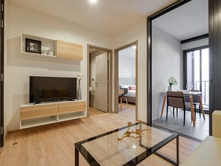 Cosy & Chic 1bed Great Views in The Base Garden Rama 9