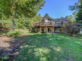 NEW LISTING! Waterfront home w/volleyball, private dock & swimming area, dogs OK