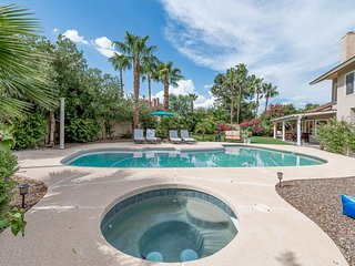 Beautiful, home w/ HEATED pool, spa, pool table & lush backyard
