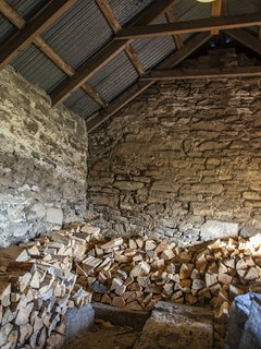Wood supply in the steading.