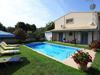 Villa Teo is located in a quiet & idyllic spot near to the sandy beach of Prasou