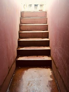This is the entrance, at the bottom of the stairs are both entrances to both studio's.
