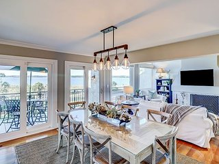 Luxury Waterfront Sea Pines 4BR/4BA Villa w/ Pool, Steps From Private Beach