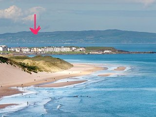 Royal Portrush Golf View Apartment, Causeway Cottages, Ideal for British Open