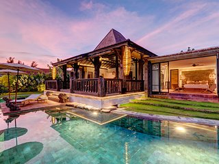 Luxurious Tropical villa blending traditional art work and modern comfort