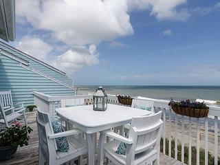 Upgraded oceanfront condo with expansive outdoor deck to relax with family