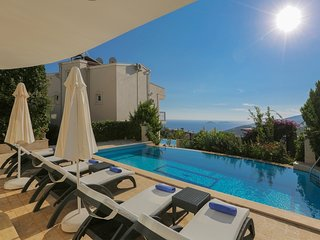 3 Bedroom Private Villa in Kalkan With Seaview, Private Pool and Close to Town