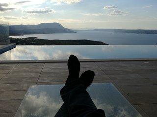 Villa Pénélope La vue sur la baie de Souda a 180 degrés est époustouflante