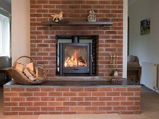 Double-sided wood-burning stove