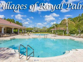 Port Orange Villa in Royal Palm-Near Shopping, I-95, Beaches! WIFI-Garage-Pool-S