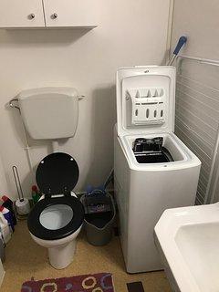 Salle de bain baignoire machine à laver