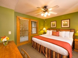 5 Star Resort with Water Park Included.  550 sq. ft. 1 king bed and 1sleeper sof