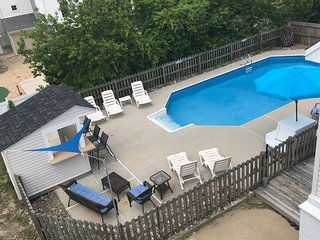 Pool view from the 3rd floor deck!