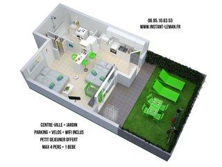 Instant-Léman I - Studio suréquipé centre-ville + jardin + vélos + parking