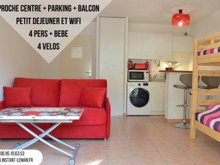 Instant-Léman II - Studio suréquipé proche centre + vélos + parking privé