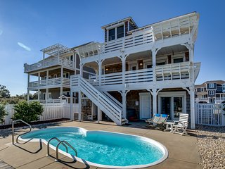 Island Delight | 900 ft from the beach | Private Pool, Hot Tub | Nags Head