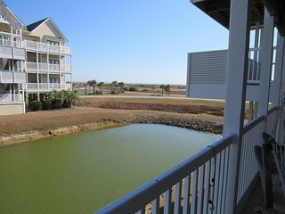3 BR 4 BA Ocean View Villa on lagoon with ocean views from  furnished deck.