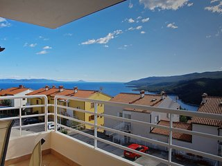 Spacious apartment in the center of Rabac with Parking, Internet, Washing machin