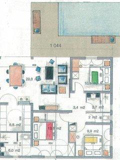 Plan de la villa 3 chambres