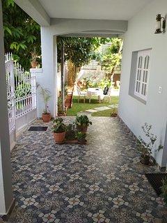 Designer tiling outside the ground floor