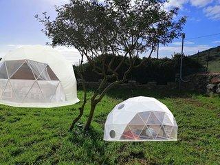 Cupola geodetica grande per 4 persone + piccola per 2 persone