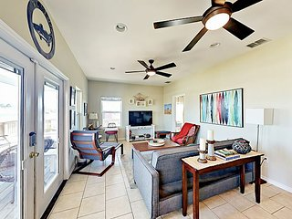 Water-View 3BR w/ Open Layout, Covered Patio & Deck – Walk to Bay