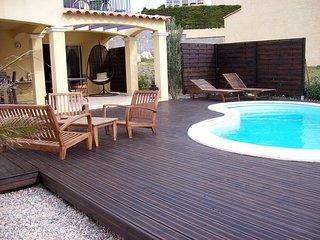 villa climatisee piscine jacuzzi sur la falaise de leucate