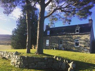 Highland Cottage nestled in its own glen. Malt Whisky Trail. Speyside, Scotland