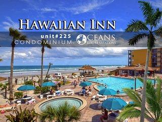 Feb Specials! Hawaiian Inn Condo - Oceanfront 1BR/1BA - #225