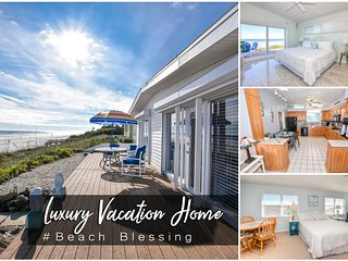 Feb Specials! 'Beach Blessing' - Luxury Oceanfront Home - 3BR/3BA