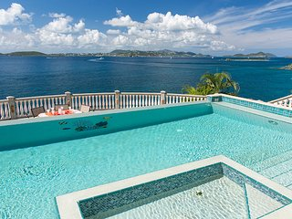 Rhapsody Villa St. John! Waterfront! Sunsets! Infinity Pool! Full AC!
