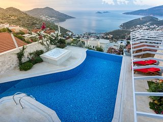 1 Bedroom Private Villa With Seaview, Large Pool With Heated Pool Villa Kalkan