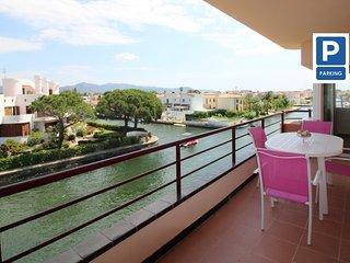 0138-LES DUNES + PRK  Apartamento al canal con gran terraza y parking