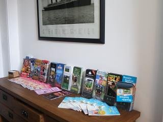 Public hallway with leaflets and games