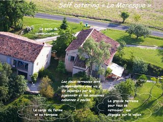 Self catering 'La Maresque' jusqu'à 12 personnes à 5 mn d'Albi