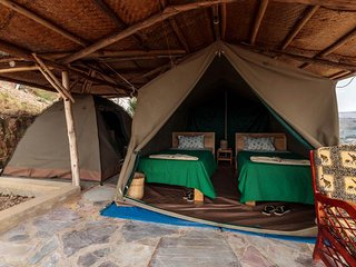 Located on a high hill bordering Lake Mburo National Park
