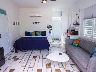 ★ Happy Turtle Loft   Eco-Friendly Studio   Steps from Beach   Large Balcony ★