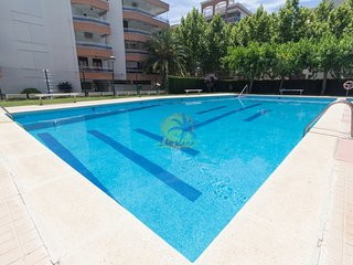Loft apartment with communal pool near the tourist area of Salou.