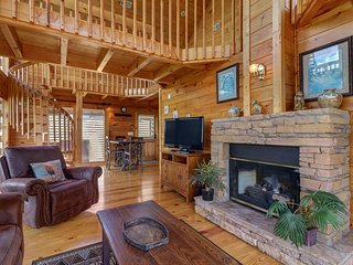 NEW LISTING! Hilltop home w/mountain view, hot tub, ping-pong & multi-level deck